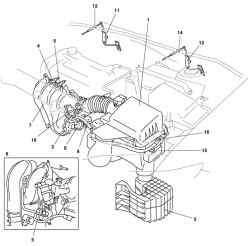 Система впуска автомобиля Mazda 3