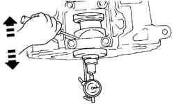Измерение осевого зазора коленчатого вала