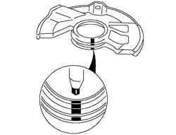 Выравнивание меток на новом защитном кожухе и поворотном кулаке