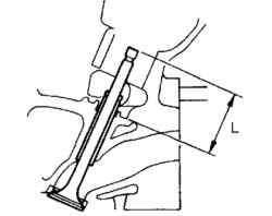 Измерение выступания седла клапана