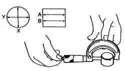Измерение наружнего диаметра отверстия толкателя клапана