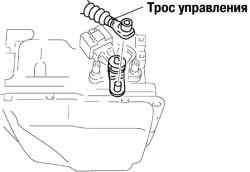 Отсоединение троса управления коробкой передач