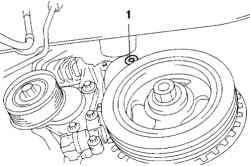 Нижняя заглушка передней крышки двигателя