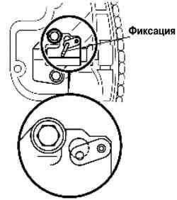 Фиксация соединительной пластины и плунжера натяжителя цепи