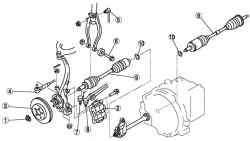 Компоненты переднего приводного механизма