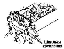 Затягивание шпилек крепления опоры двигателя №3