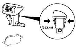 Снятие жиклера омывателя