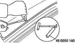 Линии среза уплотнителя ветрового стекла