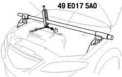 Вывешивание двигателя с помощью специального приспособления