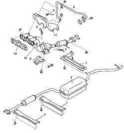 Компоненты системы выпуска отработавших газов автомобиля с двигателем Z6