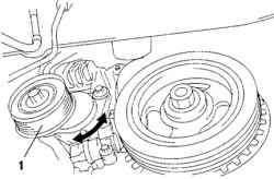 Проверка автоматического натяжителя приводного ремня