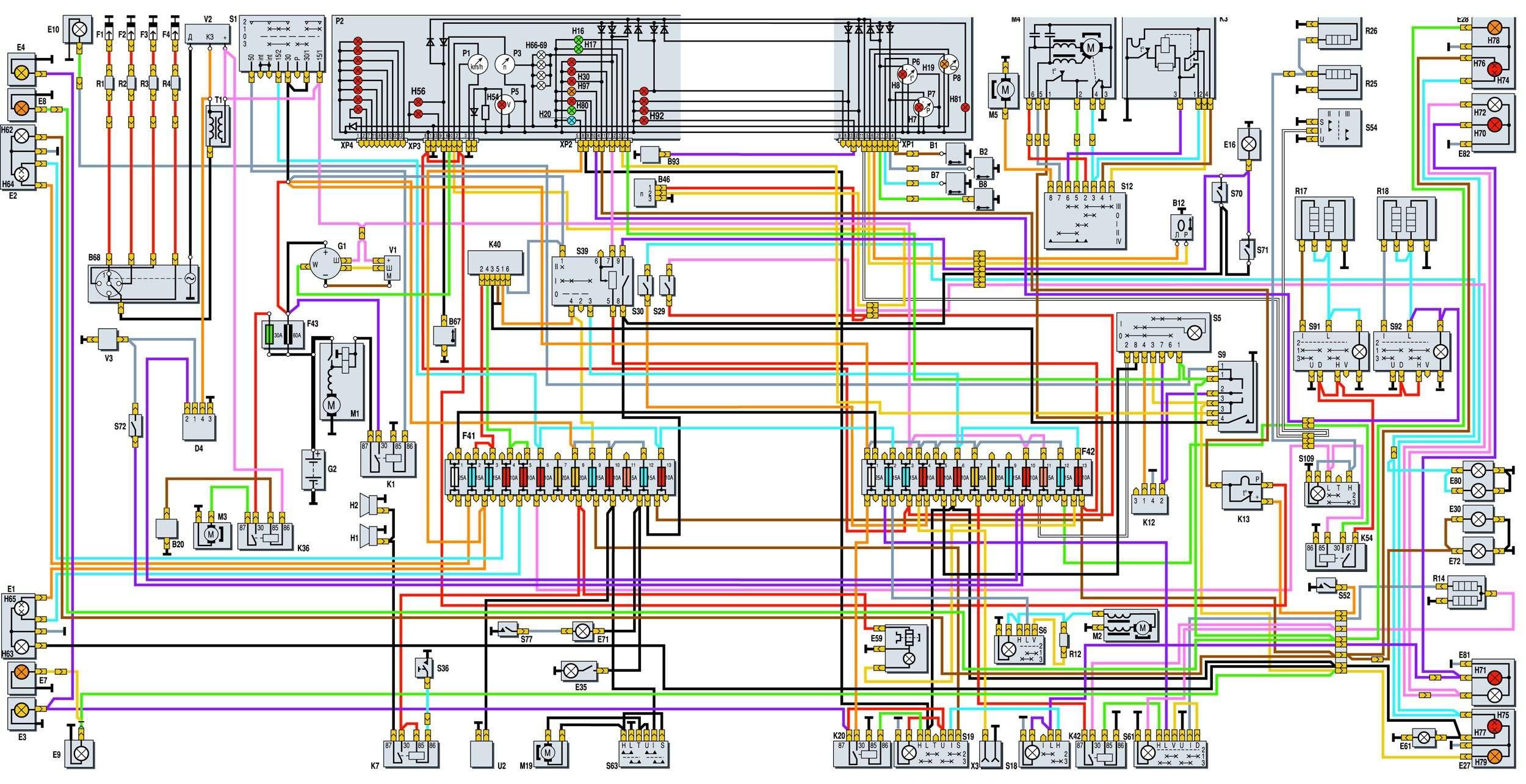 Схема инжектора двигатель 402
