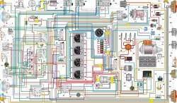Схема электрооборудования автомобиля УАЗ–33036 с многофункциональными подрулевыми переключателями