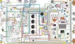 Схема электрооборудования автомобиля УАЗ–39095 без многофункциональных подрулевых переключателей