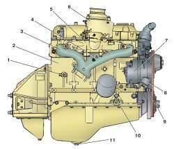 Двигатель (вид справа)