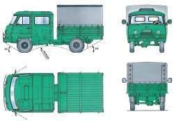 Основные размеры автомобиля УАЗ–39094