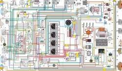 Схема электрооборудования автомобиля УАЗ–39094 с многофункциональными подрулевыми переключателями
