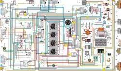 Схема электрооборудования автомобиля УАЗ–33036 без многофункциональных подрулевых переключателей