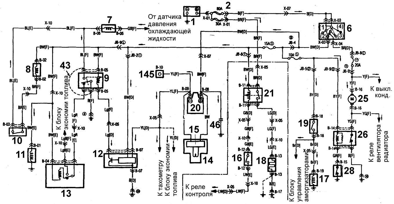 схема управления двигателем 102 мерседес е124