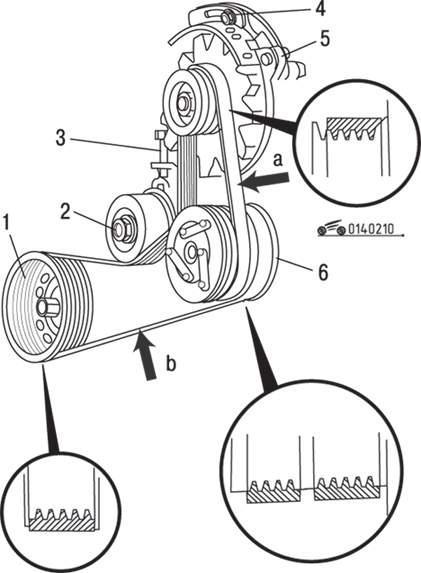 Схема расположения ремня генератора мазда 3