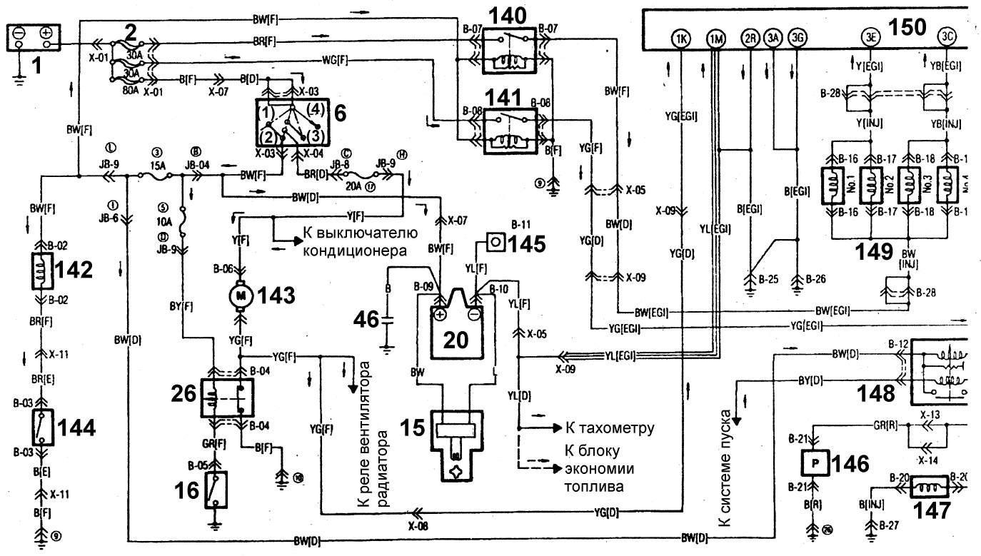 Читаем электрические схемы автомобилей