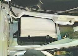 Замена салонного фильтра системы отопления и кондиционирования