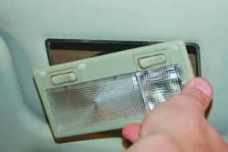 Снятие и установка плафона освещения салона