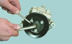 Замена насоса гидроусилителя рулевого управления