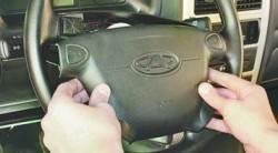 Снятие и установка рулевого колеса