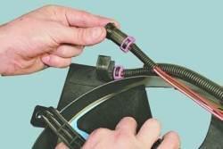 Снятие и установка электродвигателей вентиляторов системы охлаждения двигателя