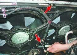 Снятие и установка электровентиляторов радиатора системы охлаждения