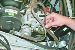 Замена ремня привода генератора и компрессора кондиционера