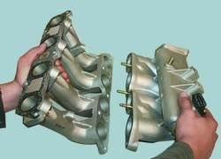 Замена прокладки впускной трубы