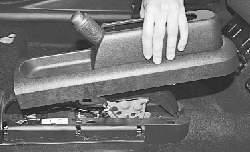 Снятие и установка облицовки тоннеля пола