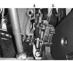 Снятие и установка педали акселератора