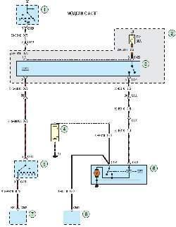 Схема 4б. Система пуска двигателя автомобилей с автоматической коробкой передач