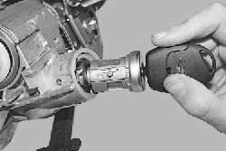 Замена цилиндра выключателя (замка) зажигания