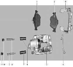Детали суппорта переднего колеса