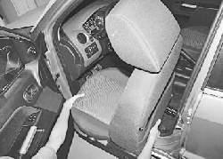 Снятие и установка переднего сиденья