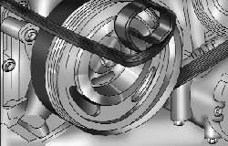 Установка ремня привода компрессора кондиционера на приспособление для его монтажа