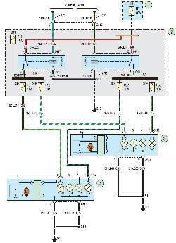 Схема 20б. Габаритное освещение для вождения в светлое время суток (система DRL)