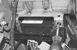 Снятие и установка блока управления электронной противоугонной системой