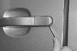 Замена наружной ручки и замка задней двери