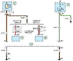 Схема 11а. Диагностический разъем