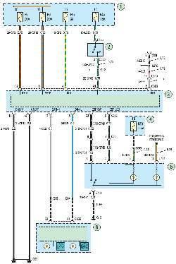 Схема 10а. Антиблокировочная система (ABS) и система динамической стабилизации (ESP) автомобиля