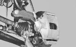 Замена тормозных колодок тормозного механизма переднего колеса