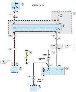 Схема 4а. Система пуска двигателя автомобилей с механической коробкой передач