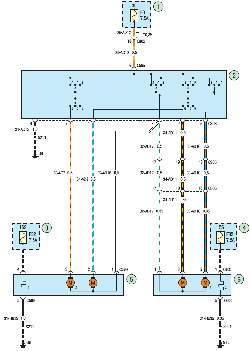 Схема 28а. Наружные зеркала заднего вида