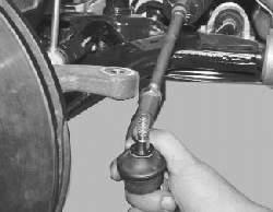 Замена наружного наконечника рулевой тяги