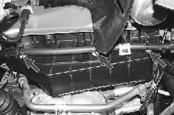 Снятие и установка брызговика двигателя
